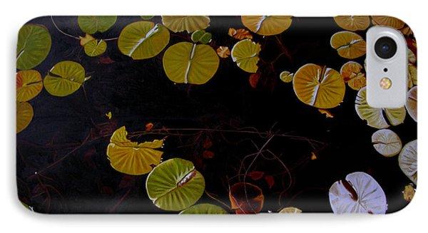 IPhone Case featuring the painting Lake Washington Lilypad 8 by Thu Nguyen