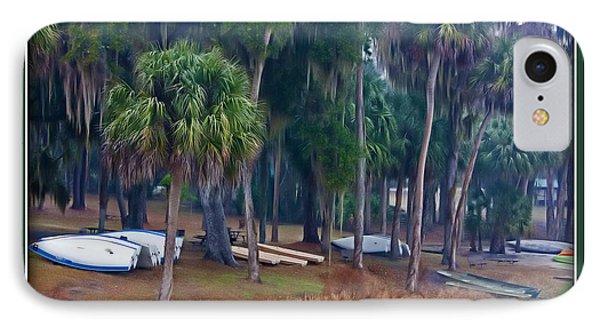 IPhone Case featuring the photograph Lake Wauburg Rain by Farol Tomson
