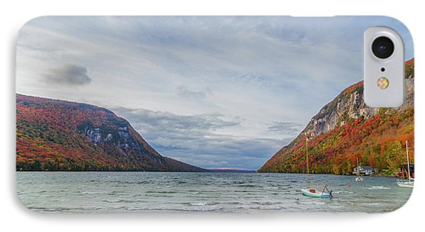Lake Willoughby Blustery Fall Day IPhone Case by Tim Kirchoff