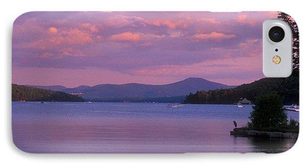Lake Winnipesaukee Evening IPhone Case by John Burk