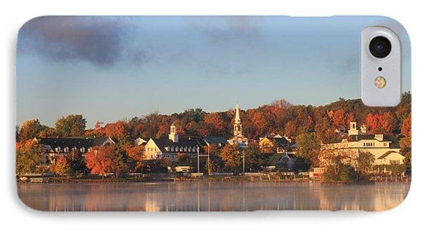 Lake Winnipesaukee Meredith Autumn Morning IPhone Case by John Burk
