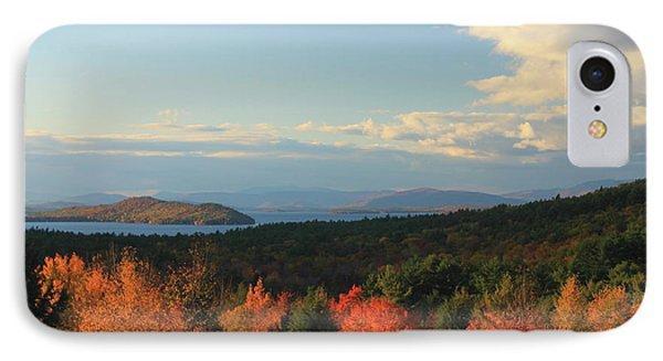 Lake Winnipesaukee Overlook In Autumn IPhone Case by John Burk