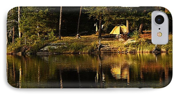 IPhone Case featuring the photograph Lakeside Campsite by Larry Ricker
