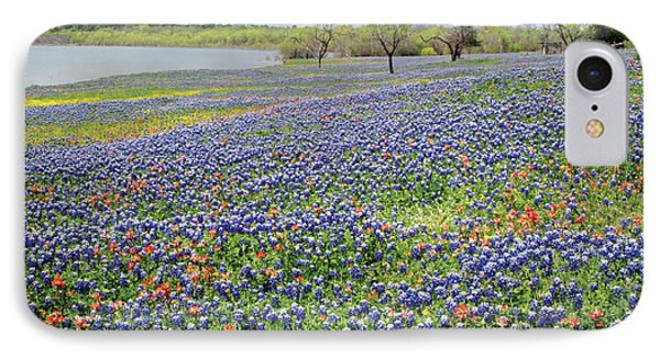 IPhone Case featuring the photograph Lakeside Texas Bluebonnets by David and Carol Kelly