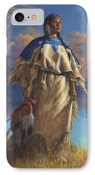 Lakota Woman IPhone Case by Kim Lockman