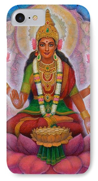 IPhone Case featuring the painting Lakshmi Blessing by Sue Halstenberg