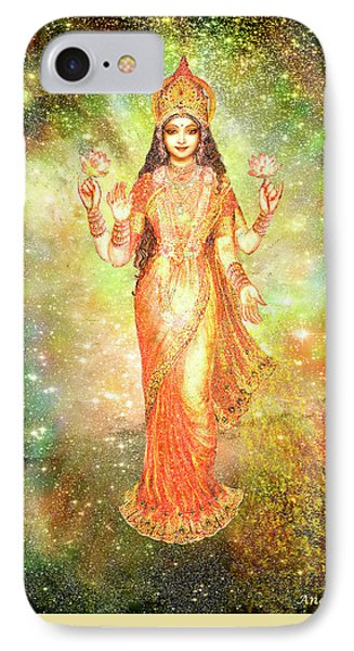 Lakshmi In A Galaxy  Phone Case by Ananda Vdovic