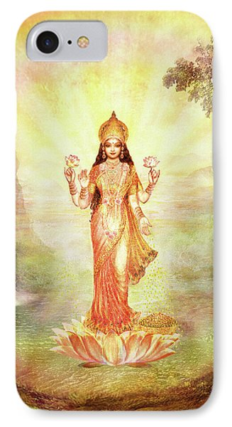 Lakshmi With The Waterfall Phone Case by Ananda Vdovic