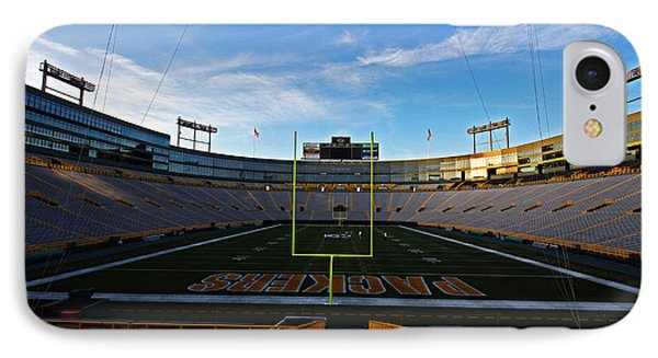 Lambeau Endzone Two Phone Case by Ty Helbach
