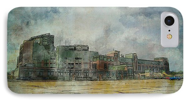 IPhone Case featuring the photograph Lambeau Field Watercolor by Joel Witmeyer