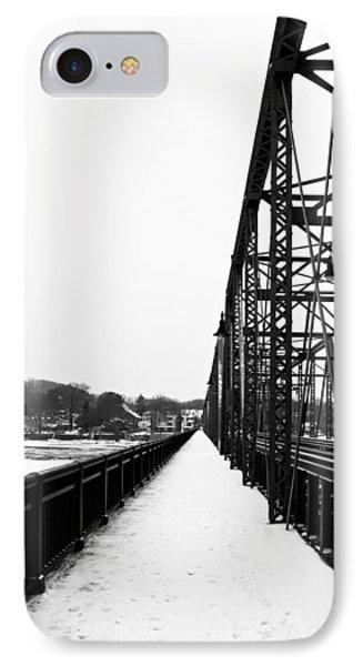 Lambertville New Hope Bridge In Winter IPhone Case by Elsa Marie Santoro