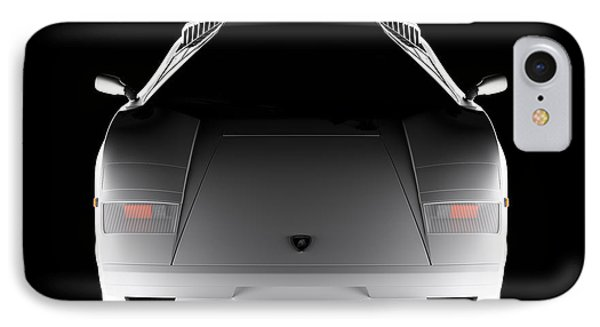 Lamborghini Countach 5000 Qv 25th Anniversary - Front View  IPhone Case