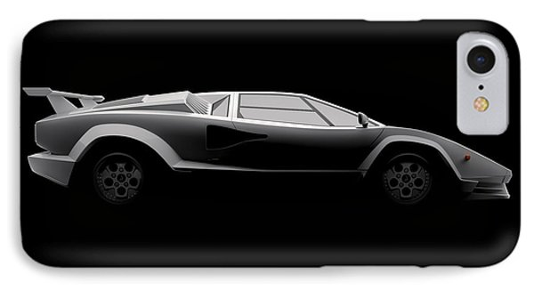 Lamborghini Countach 5000 Qv 25th Anniversary - Side View IPhone Case