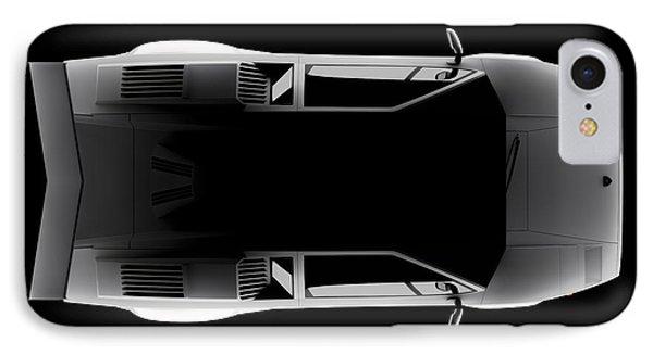 Lamborghini Countach 5000 Qv 25th Anniversary - Top View IPhone Case