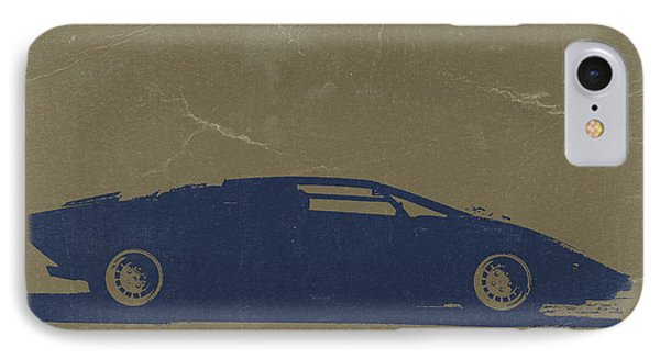 Lamborghini Countach IPhone Case by Naxart Studio