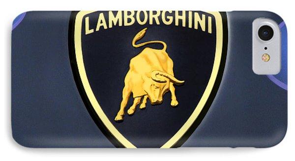 Lamborghini Emblem IPhone Case by Mike McGlothlen