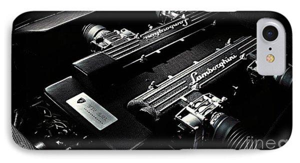 Lamborghini Engine IPhone Case by Marvin Blaine