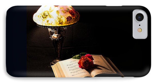 Lamp Bible And Rose IPhone Case by Rick Friedle