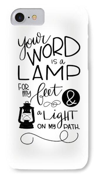 Lamp IPhone Case by Nancy Ingersoll