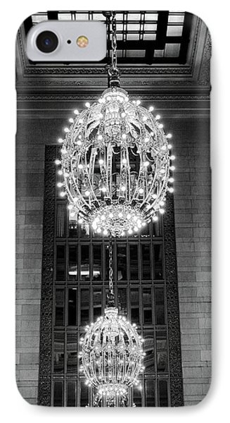 IPhone Case featuring the photograph Lamps In Grand Central Station by Lora Lee Chapman
