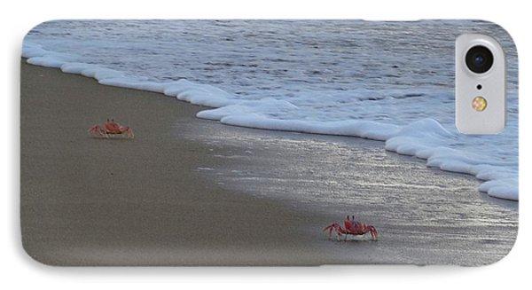Lamu Island - Crabs Playing At Sunset 4 IPhone Case by Exploramum Exploramum