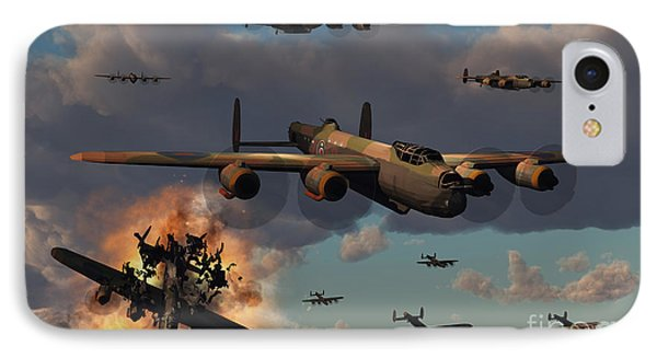 Lancaster Heavy Bombers Of The Royal Phone Case by Mark Stevenson