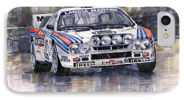 Lancia 037 Martini Rally 1983 Phone Case by Yuriy  Shevchuk