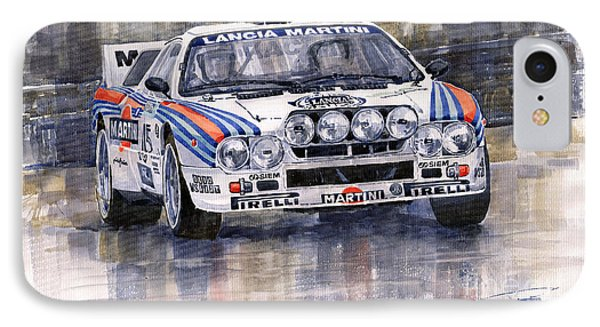 Car iPhone 7 Case - Lancia 037 Martini Rally 1983 by Yuriy Shevchuk