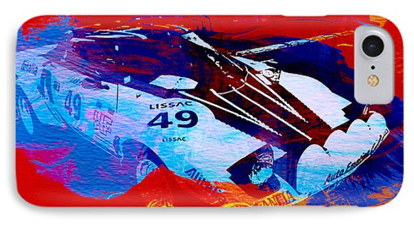 Lancia Stratos Watercolor 2 IPhone Case by Naxart Studio