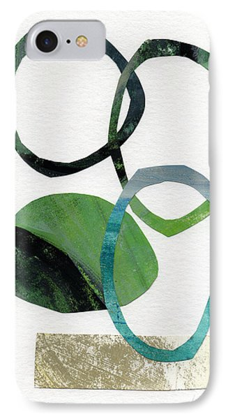Land And Sea- Abstract Art IPhone Case by Linda Woods