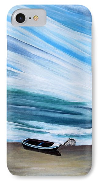 Land Meets Sky IPhone Case by Marilyn  McNish