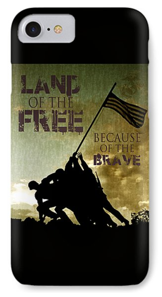 Land Of The Free IPhone Case by Dawn Romine