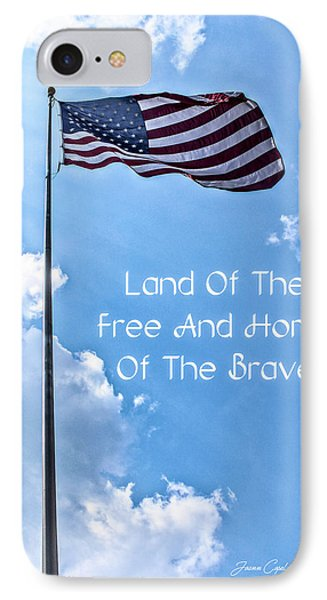 Land Of The Free IPhone Case by Joann Copeland-Paul