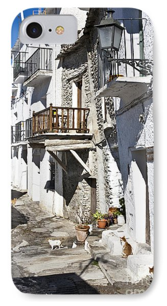 IPhone Case featuring the photograph Street In Capileira Puebla Blanca by Heiko Koehrer-Wagner