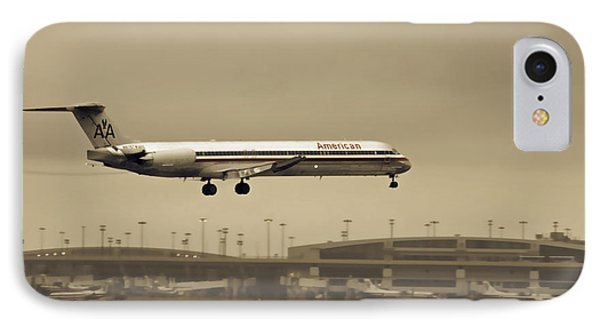 Landing At Dfw Airport IPhone Case