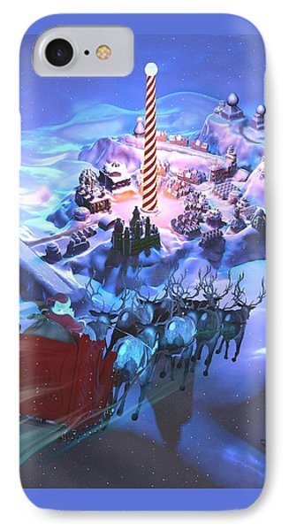 Landing At The North Pole IPhone Case by Dave Luebbert