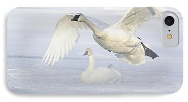 IPhone Case featuring the photograph Landing In The Cold by Larry Ricker