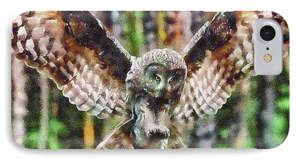 Landing Owl IPhone Case