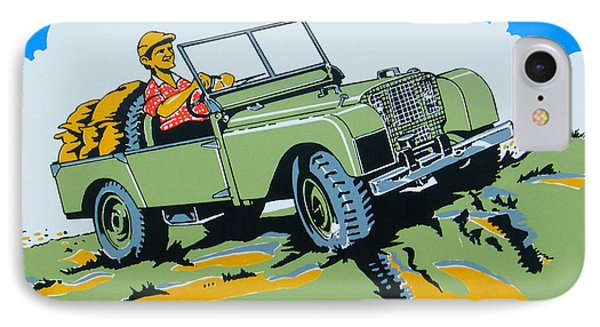 Landrover Advert - Go Anywhere.....do Anything IPhone Case by Georgia Fowler