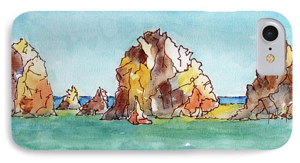 IPhone Case featuring the painting Lands End Cabo San Lucas Mexico by Pat Katz