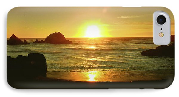 Lands End Sunset-the Golden Hour IPhone Case