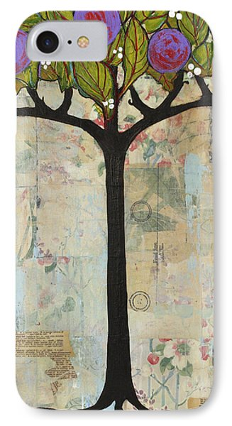 Landscape Art Tree Painting Past Visions Phone Case by Blenda Studio
