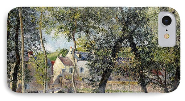 Landscape At Osny Near The Drinking Trough IPhone Case by Camille Pissarro