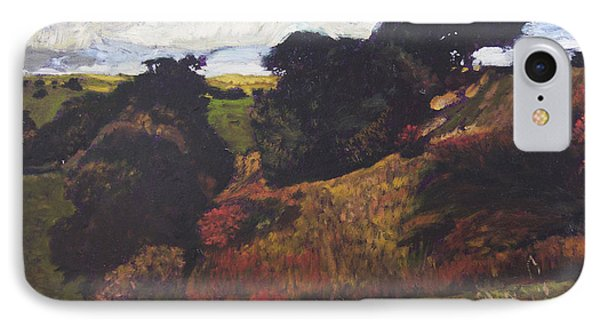 IPhone Case featuring the painting Landscape At Rhug by Harry Robertson