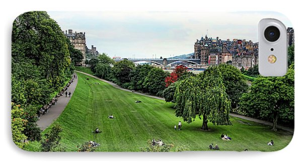 Landscape Edinburgh  IPhone Case by Chuck Kuhn