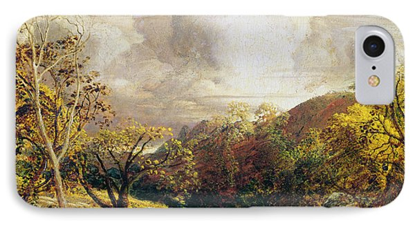 Landscape Figures And Cattle Phone Case by Samuel Palmer