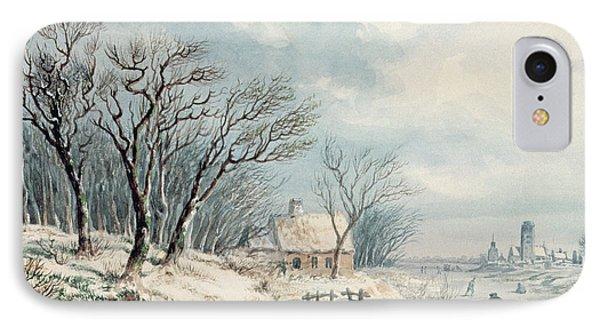 Landscape In Winter Phone Case by JJ Verreyt