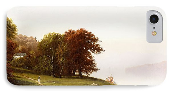 Landscape On The Hudson IPhone Case by Alfred Thompson Bricher