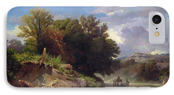 Landscape On The Outskirts Of Rome Phone Case by Jean Achille Benouville