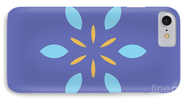 Landscape Purple Abstract Light Blue And Yellow IPhone Case by Pablo Franchi